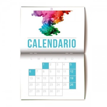 calendarios de pared grapados