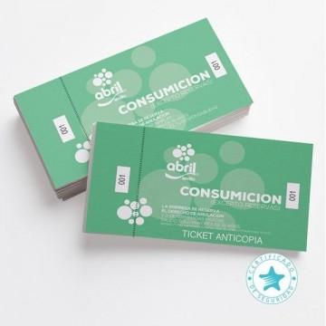 Imprimir Tickets consumición anticopia