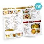 Cartas Restaurante PVC Dípticos A3 / A4
