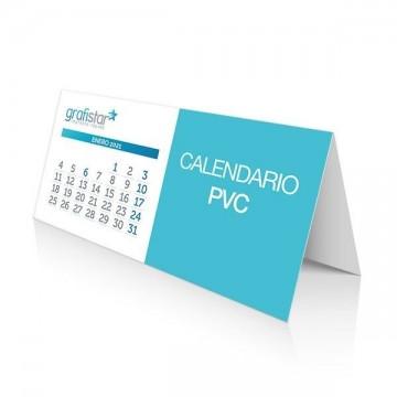 Calendarios de mesa PVC
